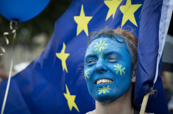 eu painted face